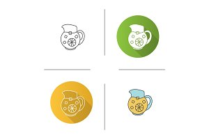 Lemonade jug icon