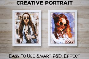 Creative Portrait: Smart PSD. Effect