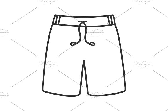 Swimming Trunks Linear Icon