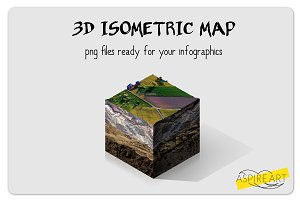 3D isometric map - infographic tool