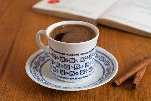 vintage coffee cup book cinnamon