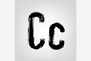 "Grunge Tire Letter ""C"""