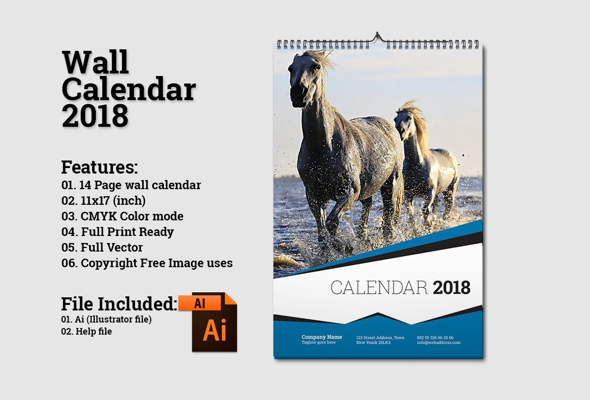 Calendar Cover Page Design : Wall calendar template v stationery templates