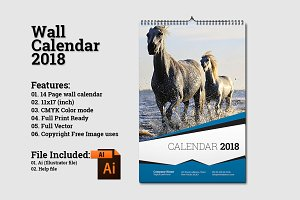 Wall Calendar Template 2018 V5