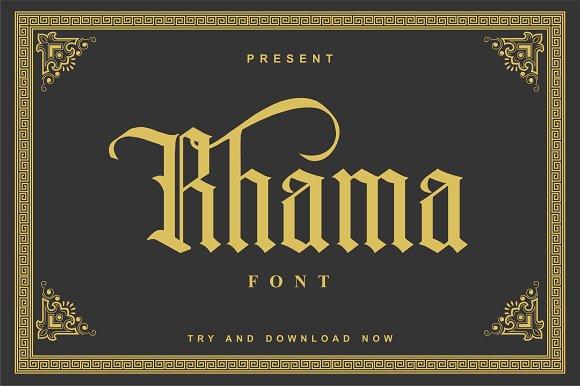 Rhama Font