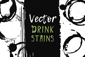 Vector drink stains