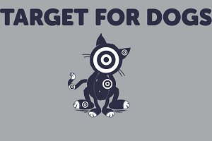 Cartoon Target for Dogs