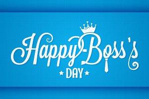 boss day logo vintage lettering
