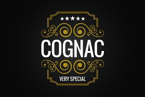 cognac logo design background