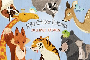 Wild Animals Critter Friends Clipart