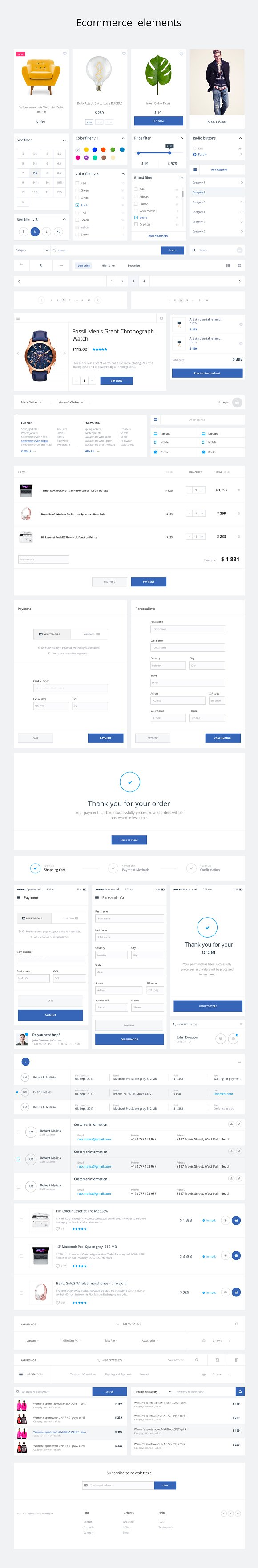 Startup Axure Template-220 elements
