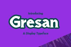 Gresan Typeface