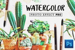 Watercolor Photo Effect Kit