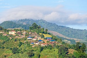 Small village on on the mountain