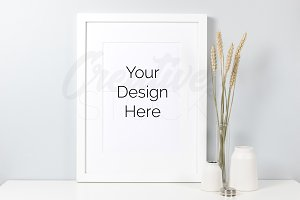 A4 Frame Mock Up - PSD/JPEG