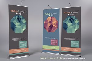 Roll Up Banner Mock-Ups V3