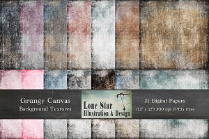 Grungy Canvas Texture Collection I