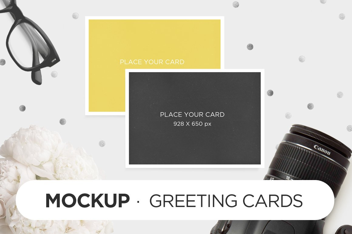 MockUp - Greeting Cards Camera ~ Product Mockups ~ Creative Market