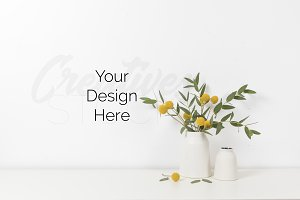 Styled floral stock photography JPEG