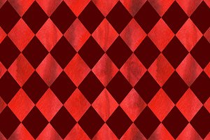 Watercolor red ruby rhombus geometric seamless pattern texture background