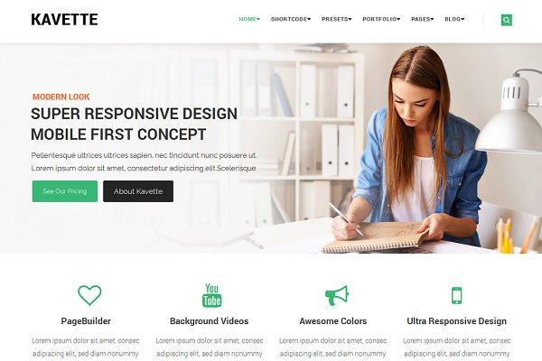 Joomla Themes: wiithemes - Kavette MultiPurpose Joomla Template