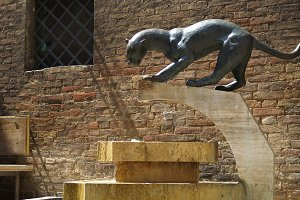 Italian Panther Sculpture