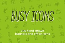 Busy Icons: 340 business icons