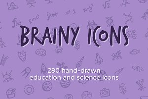 Brainy Icons: 280 science icons
