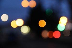 Bokeh of city lights