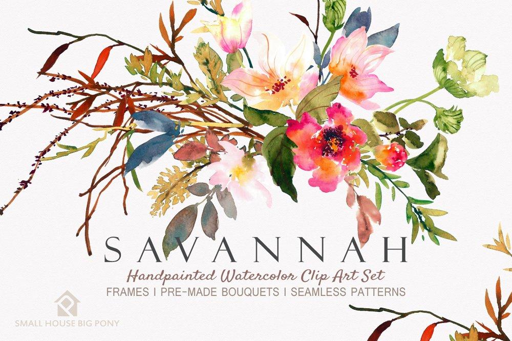 Savannah - Watercolor Floral Set ~ Graphics ~ Creative Market