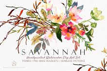 Savannah - Watercolor Floral Set
