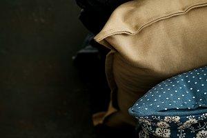 Home Concept Pillows Dark Stack