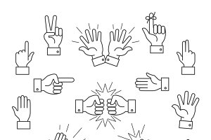 Gesturing hands finger illustration