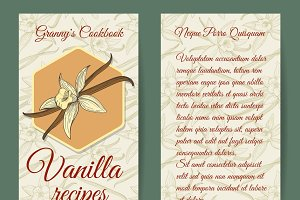 Vanilla brochure design template