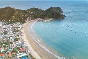 Port in Nicaragua aerial view