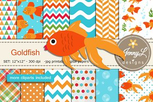 Godlfish Digital Papers & Clipart