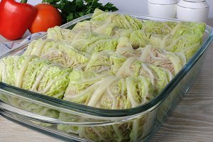 stuffed savoy cabbage