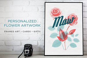 Personalized Flower Artwork