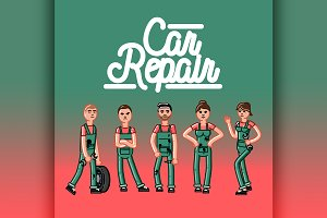 Car repair team