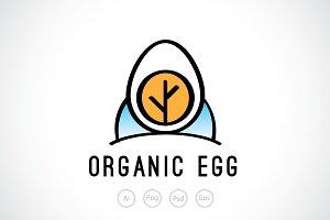 Organic Egg Logo Template