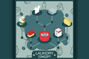 Laundry color concept icons