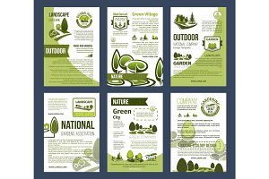 Ecology posters set for environment design