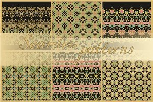 11 seamless ornamental patterns