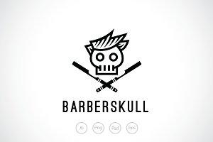 Barber Skull Logo Template