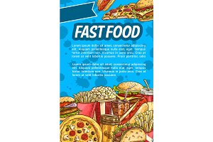Fast food poster for restaurant menu design
