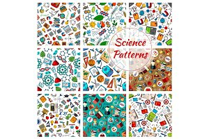 Science seamless patterns for education design