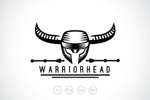 Warrior Head Logo Template