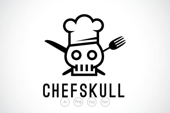 chef skull logo template logo templates creative market