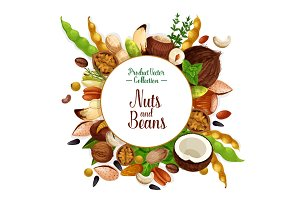 Nut and bean, seed and herb poster