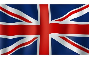 Grean Britain or Union Jack 3d flag